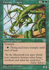 Magic the Gathering Mirage Single Canopy Dragon UNPLAYED (NM/MT)