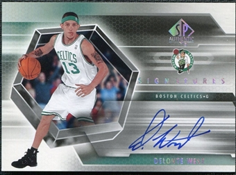 2004/05 Upper Deck SP Authentic Signatures #WE Delonte West Autograph