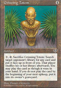 Magic the Gathering Mirage Single Grinning Totem - NEAR MINT (NM)