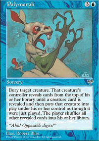 Magic the Gathering Mirage Single Polymorph - SLIGHT PLAY (SP)