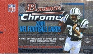 2001 Bowman Chrome Football Hobby Box