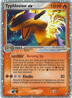 Pokemon Unseen Forces Single Typhlosion ex 110/115