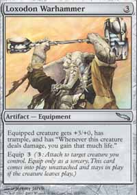 Magic the Gathering Mirrodin Single Loxodon Warhammer - NEAR MINT (NM)