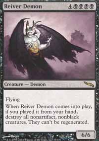 Magic the Gathering Mirrodin Single Reiver Demon Foil