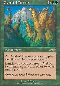 Magic the Gathering Nemesis Single Overlaid Terrain - NEAR MINT (NM)