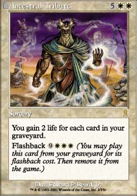 Magic the Gathering Odyssey Single Ancestral Tribute LIGHT PLAY (NM)