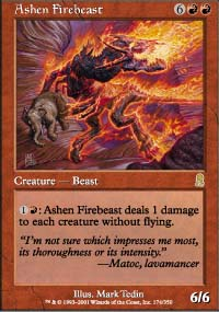 Magic the Gathering Odyssey Singles 4x Ashen Firebeast - NEAR MINT (NM)
