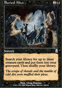 Magic the Gathering Odyssey Single Buried Alive UNPLAYED (NM/MT)