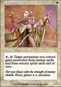 Magic the Gathering Odyssey Single Devoted Caretaker Foil