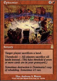 Magic the Gathering Odyssey Single Epicenter - SLIGHT PLAY (SP)
