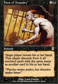 Magic the Gathering Odyssey Single Hint of Insanity - NEAR MINT (NM)