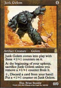 Magic the Gathering Odyssey Singles 4x Junk Golem - NEAR MINT (NM)