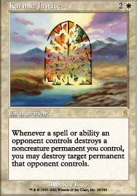 Magic the Gathering Odyssey Single Karmic Justice Foil