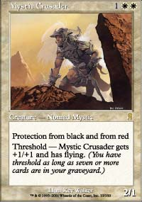 Magic the Gathering Odyssey Single Mystic Crusader - SLIGHT PLAY (SP)