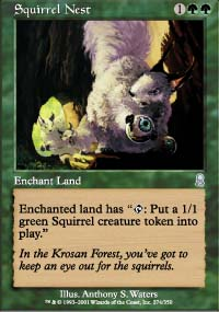 Magic the Gathering Odyssey Single Squirrel Nest UNPLAYED (NM/MT)