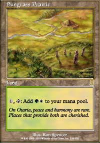 Magic the Gathering Odyssey Single Sungrass Prairie UNPLAYED (NM/MT)