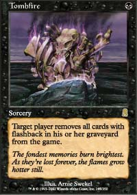 Magic the Gathering Odyssey Single Tombfire UNPLAYED (NM/MT)