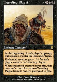 Magic the Gathering Odyssey Singles 4x Traveling Plague - NEAR MINT (NM)