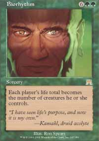 Magic the Gathering Onslaught Single Biorhythm - NEAR MINT (NM)