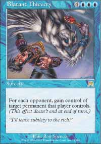 Magic the Gathering Onslaught Single Blatant Thievery UNPLAYED (NM/MT)