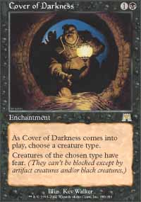 Magic the Gathering Onslaught Single Cover of Darkness - NEAR MINT (NM)