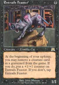 Magic the Gathering Onslaught Singles 4x Entrails Feaster UNPLAYED (NM/MT)