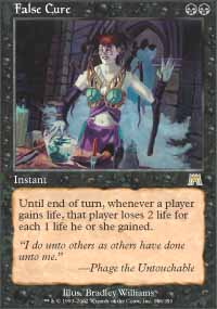 Magic the Gathering Onslaught Single False Cure Foil