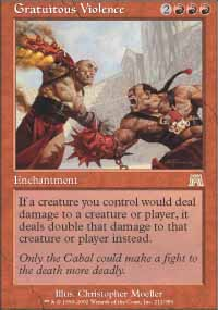 Magic the Gathering Onslaught Single Gratuitous Violence UNPLAYED (NM/MT)