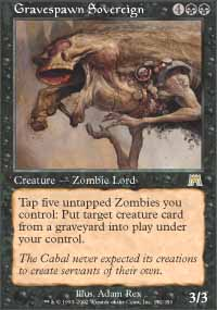 Magic the Gathering Onslaught Single Gravespawn Sovereign UNPLAYED (NM/MT)