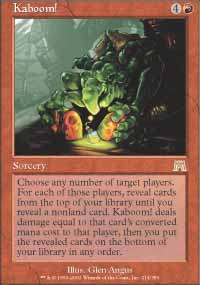 Magic the Gathering Onslaught Singles 4x Kaboom! - NEAR MINT (NM)