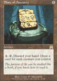 Magic the Gathering Onslaught Singles 4x Slate of Ancestry - NEAR MINT (NM)