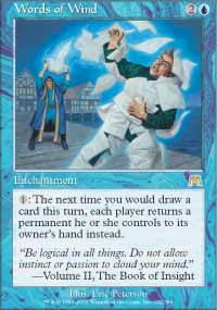 Magic the Gathering Onslaught Single Words of Wind - NEAR MINT (NM)