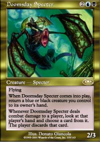 Magic the Gathering Planeshift Single Doomsday Specter UNPLAYED (NM/MT)