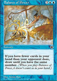 Magic the Gathering Portal 1 Single Balance of Power - SLIGHT PLAY (SP)