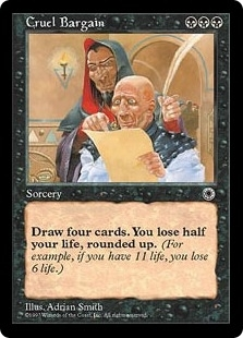 Magic the Gathering Portal 1 Single Cruel Bargain - SLIGHT PLAY (SP)