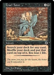 Magic the Gathering Portal 1 Single Cruel Tutor - NEAR MINT (NM)
