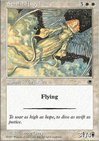 Magic the Gathering Portal 1 Single Starlit Angel - NEAR MINT (NM)
