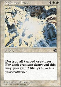 Magic the Gathering Portal 2 Single Righteous Fury - NEAR MINT (NM)