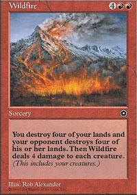 Magic the Gathering Portal 2 Single Wildfire - SLIGHT PLAY (SP)