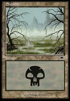 Magic the Gathering Old-Border Foil Basic Swamps 50x Lot Various Conditions (NM/SP) - Random Arts!