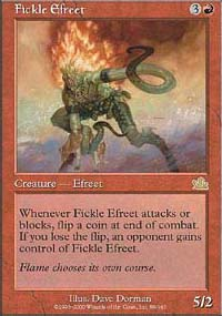 Magic the Gathering Prophecy Single Fickle Efreet - SLIGHT PLAY (SP)