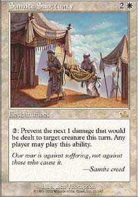 Magic the Gathering Prophecy Single Samite Sanctuary UNPLAYED (NM/MT)