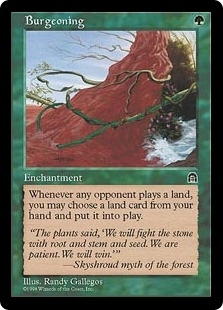 Magic the Gathering Stronghold Single Burgeoning UNPLAYED (NM/MT)