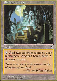 Magic the Gathering Tempest Single Ancient Tomb - SLIGHT PLAY (SP)