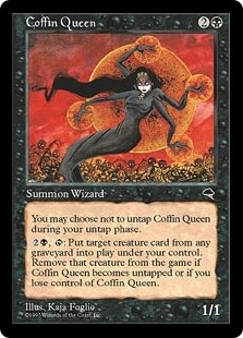 Magic the Gathering Tempest Single Coffin Queen - MODERATE PLAY (MP)