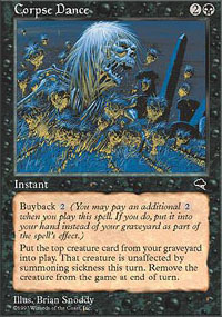 Magic the Gathering Tempest Single Corpse Dance - SLIGHT PLAY (SP)