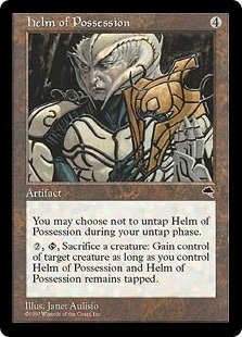 Magic the Gathering Tempest Single Helm of Possession - NEAR MINT (NM)