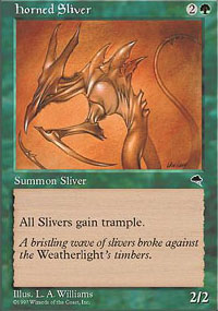 Magic the Gathering Tempest Single Horned Sliver UNPLAYED (NM/MT)