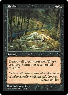 Magic the Gathering Tempest Single Perish - SLIGHT PLAY (SP)