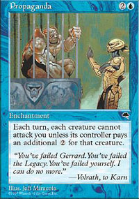 Magic the Gathering Tempest Single Propaganda UNPLAYED (NM/MT)